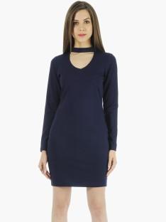 Blue and black dress short