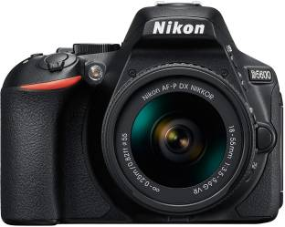 Nikon D5600 DSLR Camera Body with Single Lens: AF P DX Nikkor 18 55 MM F/3.5 5.6G VR  16  GB SD Card