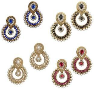 Chandelier earrings buy chandelier earrings online at best jewels guru combo 01 alloy chandelier earring mozeypictures Choice Image