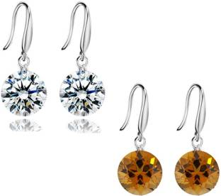 Karatcart Fashion Jewellery Crystal Platinum Earring Set
