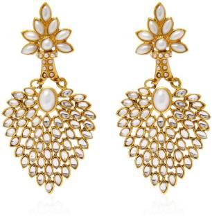 Chandelier earrings buy chandelier earrings online at best prices jewels guru pearl alloy chandelier earring mozeypictures Gallery