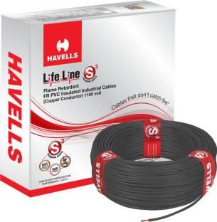 Havells FR PVC, PVC 4 sq/mm Black 90 m Wire
