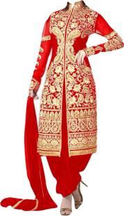 c6851f4533 Bollywood Designer Georgette Self Design Semi-stitched Salwar Suit Dupatta  Material