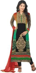 Rozdeal Georgette Self Design Semi-stitched Salwar Suit Dupatta Material