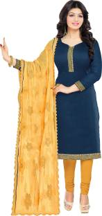 Jiya Chanderi Self Design Salwar Suit Dupatta Material