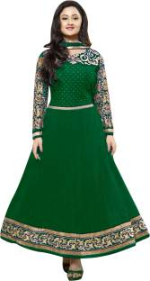 Reya Georgette Embroidered Semi-stitched Salwar Suit Dupatta Material