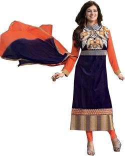 Shreeji Fashion Cotton Embroidered Semi-stitched Salwar Suit Dupatta Material