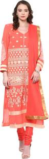 Yepme Polyester Embroidered Semi-stitched Salwar Suit Dupatta Material