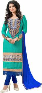 Jiya Georgette Self Design, Embroidered Dress/Top Material