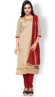 Khushali Silk Self Design, Solid Salwar Suit Dupatta Material