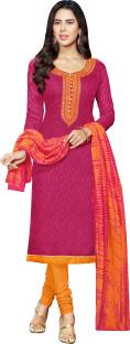 Paroma Art Jacquard Printed Salwar Suit Dupatta Material