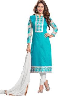 Khoobee Chanderi Self Design, Embroidered Salwar Suit Dupatta Material