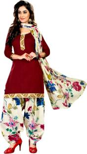 Drapes Cotton Solid, Printed Salwar Suit Dupatta Material