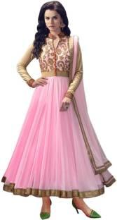 Shital Fashion World Net Embroidered, Self Design Semi-stitched Salwar Suit Dupatta Material