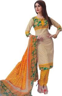 Divi Cotton Printed Salwar Suit Dupatta Material