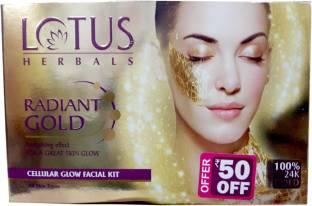 b5abfcb41c Lotus HERBALS RADIANT GOLD Cellular Glow FACIAL KIT 170 g - Price in ...