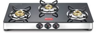 Prestige Marvel LP Gas Table with Glass Top Glass, Stainless Steel Manual Gas Stove