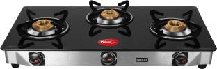 Pigeon Blackline Smart Stainless Steel, Glass Manual Gas Stove
