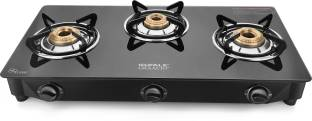 Ideale Graacio TINTO Burner Glasstop Glass, Stainless Steel Manual Gas Stove