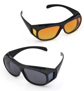 26e6790b46c3 LUMONY Day Night HD Vision Goggles Anti-Glare Polarized Sunglasses ...