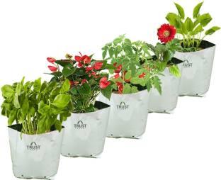 Trustbasket Large Poly Grow Bags Uv Ilized 5 Qty 24cms L X24cms