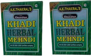 A.K. Thakral's KHADI HERBAL MEHNDI , NATURAL BLACK