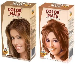 Color Mate Golden Copper Loght Blonde Golden Brown Hair Color