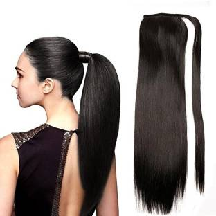 Hair extensions store online buy hair extensions products online majik best quality human wrap around ponytail 120 grams 22 inches black hair extension pmusecretfo Gallery