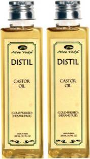 Aloe Veda Distil Cold-Pressed Hexane Free Castor Oil Combo Set Of 2