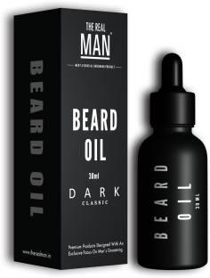THE REAL MAN Dark Classic Organic Beard Oil Hair Oil