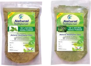 Natural Healthplus Care Henna Indigo Powder Combo