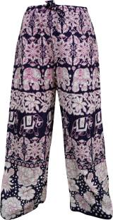 Indiatrendzs Animal Print Rayon Women's Harem Pants