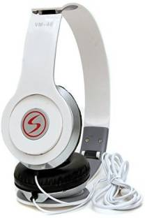 Signature VM 46 Wired Headset without Mic   White, On the Ear