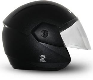 Vega Ridge Black Helmet Motorsports Helmet