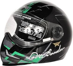 3700dc98 Steelbird Adonis Graphics Lost Border Full Face Clear Visor Motorbike Helmet