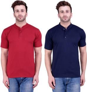 afc88ff84 Daagwood Solid Men's Polo Neck Maroon T-Shirt - Buy Maroon Daagwood ...