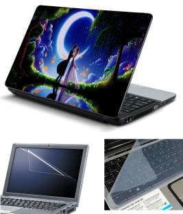 Psycho Art 3in1 Laptop Skin Pack with Screen Guard   Key Protector HQ140740 Combo Set