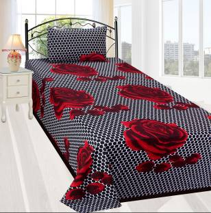 Crusty 140 TC Microfiber Single Floral Bedsheet
