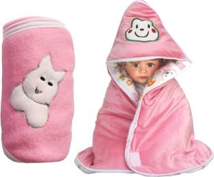 my newborn cartoon crib swadding baby blanket pink
