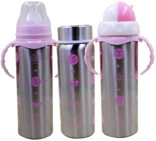 b3d429f4547 Chinmay Kids Multifunctional Baby Steel Feeding Bottle Cum Sipper Cum Straw  - 240 ml