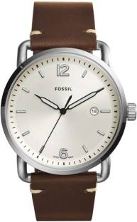 8c5c7eb596c Fossil white7554 Fossil Men s  The Commuter  Quartz Stainless Steel ...