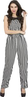 80de0fe1c5c1 My Swag Polka Print Women s Jumpsuit - Buy Sober White   Bold Black ...