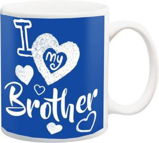 MEYOU Gift For BrotherI Love My Brother And Happy Birthday Bhai Blue Hd Printed