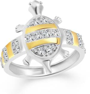Sullery Cz Diamond Turtle Brass Alloy Cubic Zirconia Gold Plated