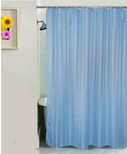 Yellow Weaves PVC Shower Curtain 213 Cm 69ft Single