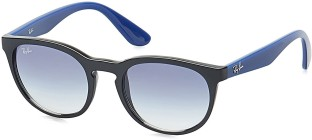 Ray Ban Round Sunglasses (Blue)