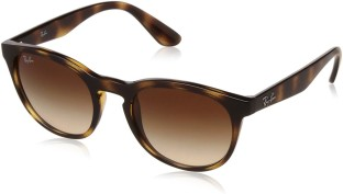 Ray Ban Round Sunglasses (Brown)