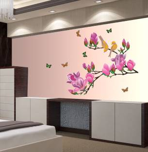 New Way Decals Wall Sticker Floral Botanical Wallpaper Price In - wallpaper designs for walls price in india