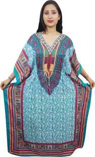 Indiatrendzs Floral Print Viscose Women's Kaftan