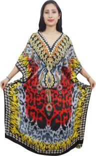 Indiatrendzs Printed Viscose Women's Kaftan